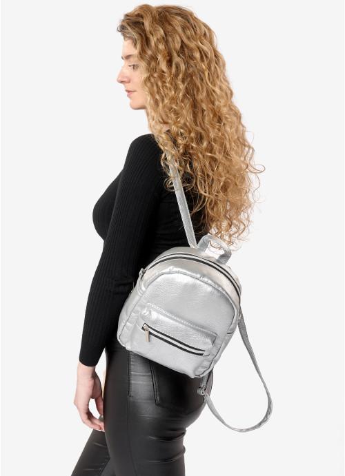 Жіночий рюкзак Sambag Brix SSSP срібний