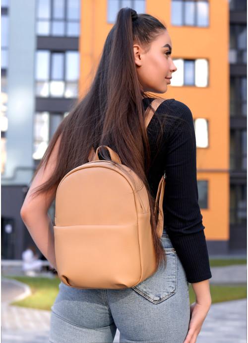 Жіночий рюкзак Sambag Brix KQH бежевий