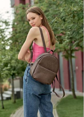 Жіночий рюкзак Sambag Brix KQH коричневий нубук