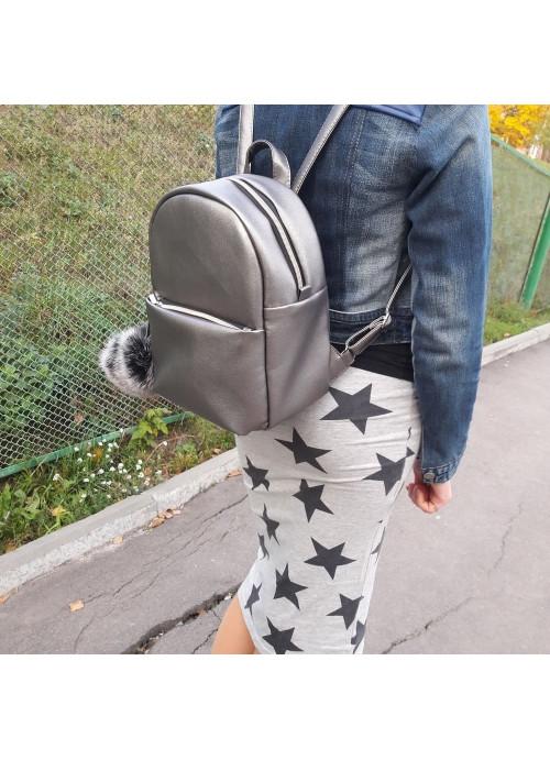Жіночий рюкзак Sambag Brix KQGP silver dark