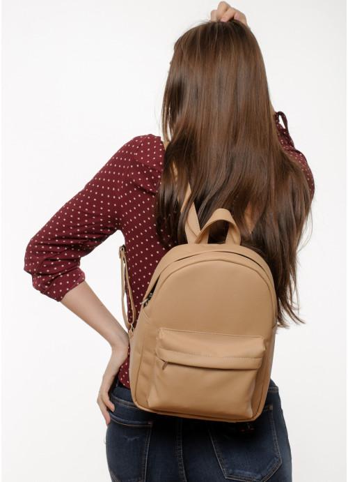 Жіночий рюкзак Sambag Brix MSH бежевий