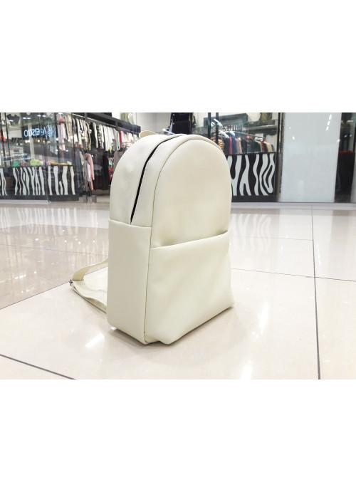 Жіночий рюкзак Sambag Brix MQH молочний матовий