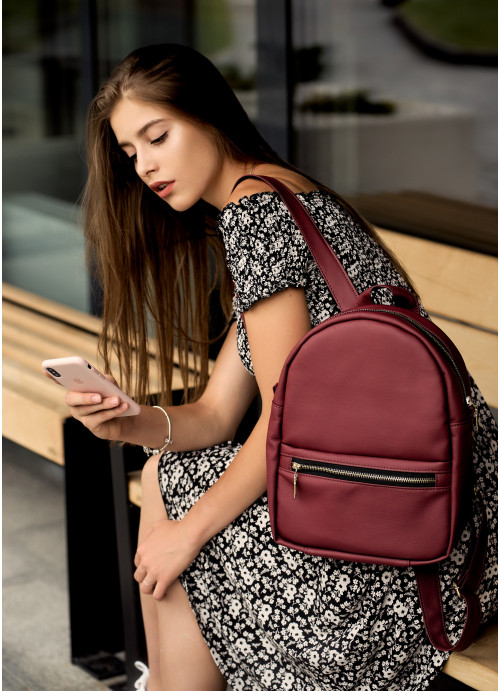 Жіночий рюкзак Sambag Brix MPG бордо