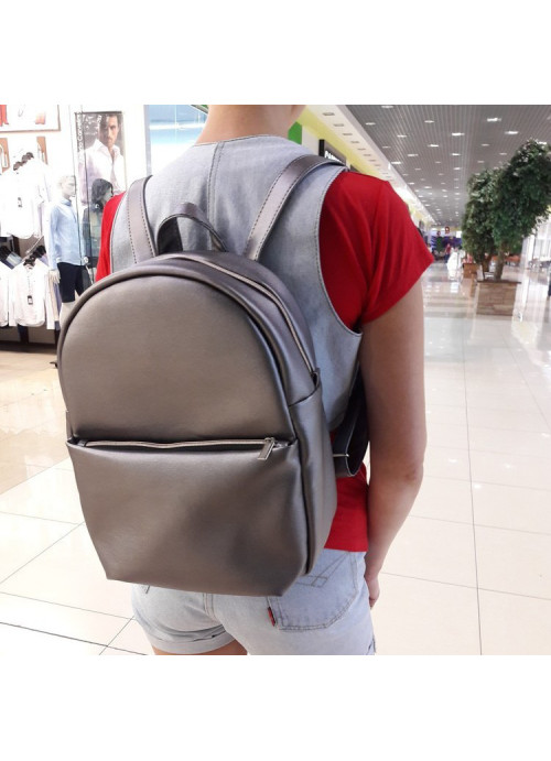 Жіночий рюкзак Sambag Brix RQGP silver dark