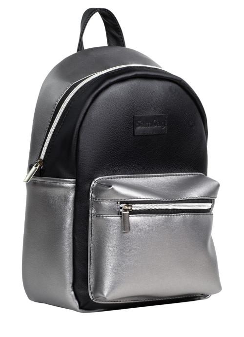 Жіночий Рюкзак Sambag Talari MSSPn комбінація чорного з металіком