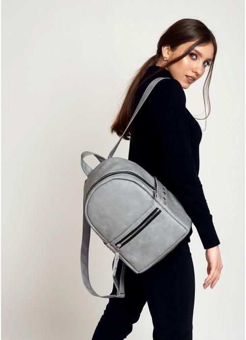 Жіночий рюкзак Sambag Dali BPS світло-сірий нубук