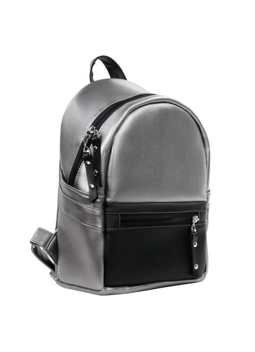 Жіночий рюкзак Sambag Dali BPT комбінація чорного з металіком