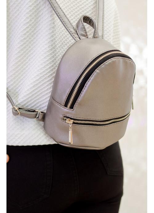 Маленький дівочий рюкзак Sambag Mane SSG silver dark