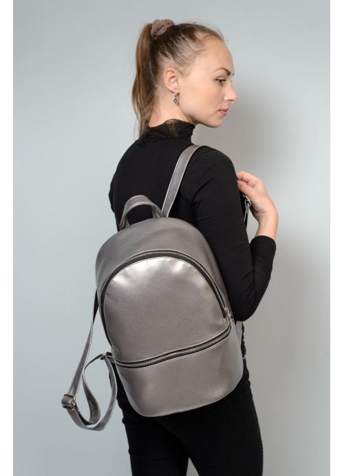 Маленький дівочий рюкзак Sambag Mane BSS silver dark