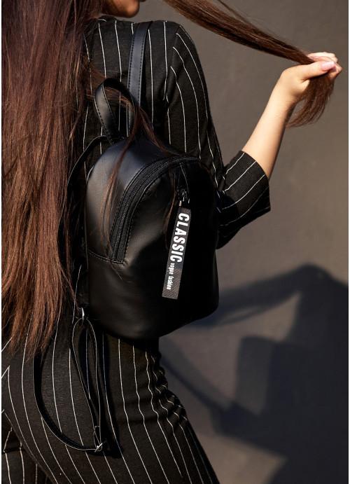 Жіночий рюкзак малий Sambag Mane MQT чорний