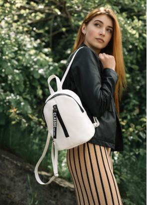 Жіночий рюкзак малий Sambag Mane MQT білий