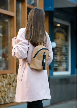 Жіночий рюкзак малий Sambag Mane MQT бежевий