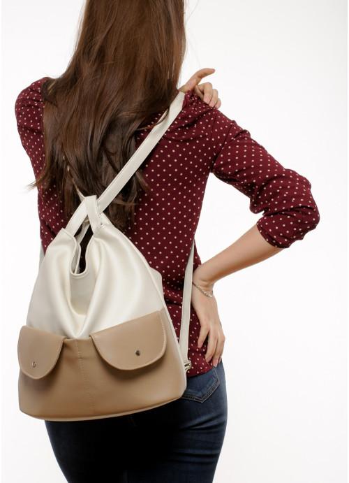 Жіночий рюкзак Sambag Asti XKH молочний