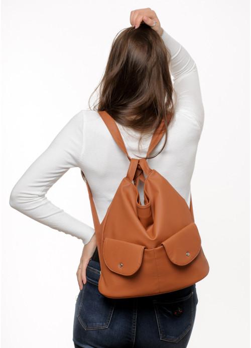 Жіночий рюкзак Sambag Asti XKH коричневий