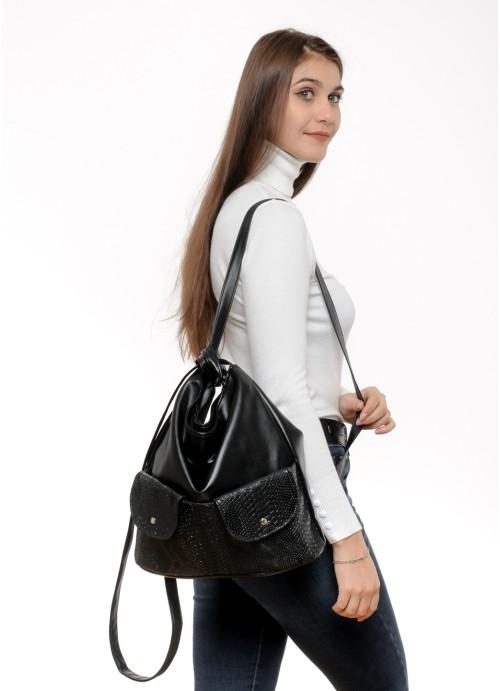 Жіночий рюкзак Sambag Asti XKH Принт крокодила