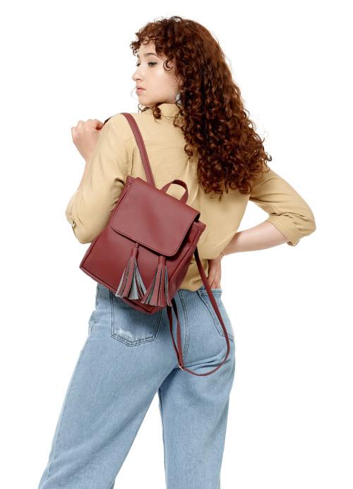 Жіночий рюкзак Sambag Loft SZNe бордо