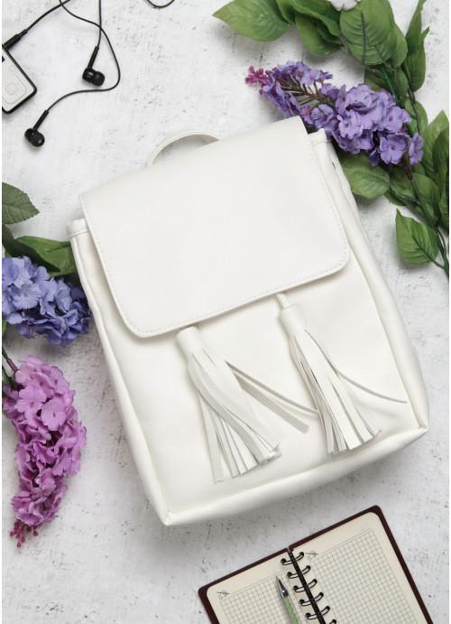 Жіночий рюкзак Sambag Loft SZN білий