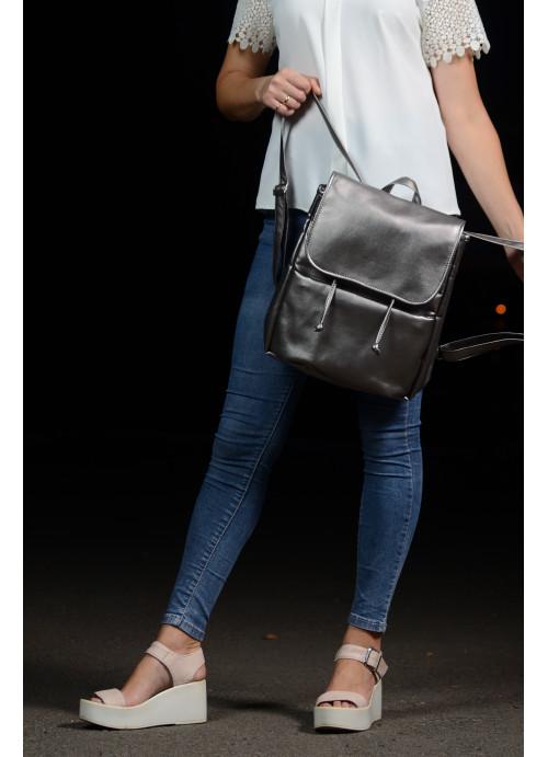 Жіночий рюкзак Sambag Loft MQN silver dark