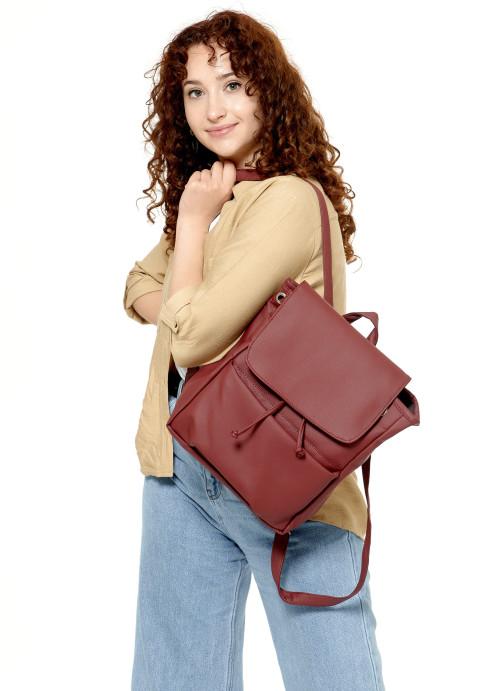 Жіночий рюкзак Sambag Loft MQN бордо