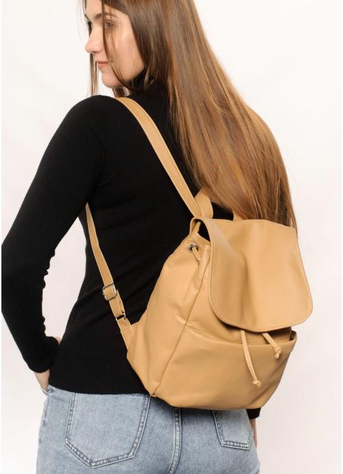 Жіночий рюкзак Sambag Loft MQN бежевий