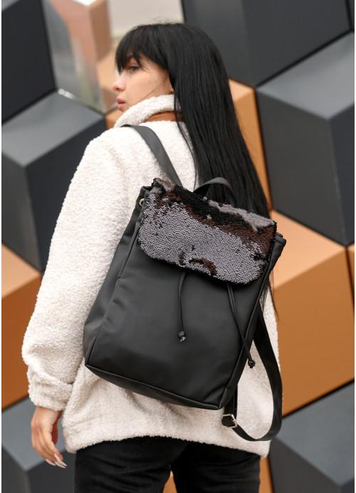 Жіночий рюкзак Sambag Loft BZNc чорний