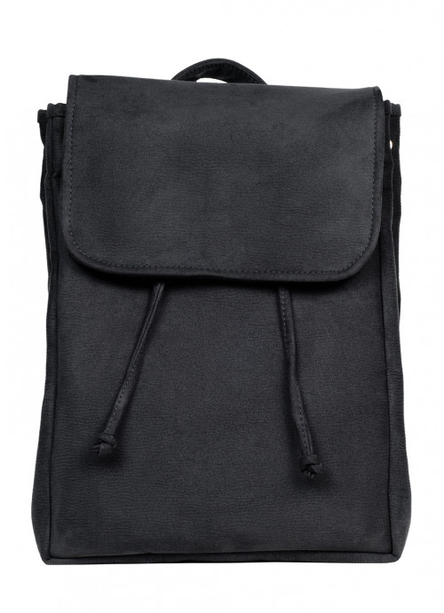 Жіночий рюкзак Sambag Loft BZN чорний замш