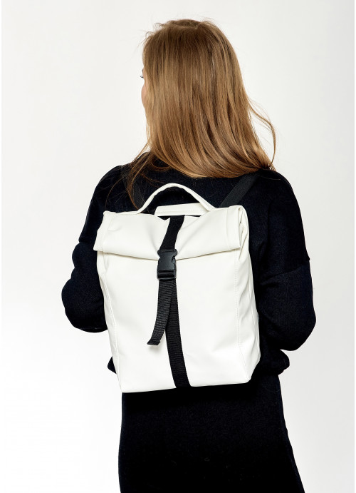 Рюкзак ролл Sambag унісекс RollTop QSN білий