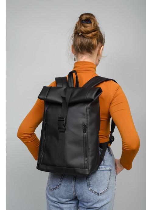 Рюкзак ролл Sambag унісекс RollTop BZT чорний
