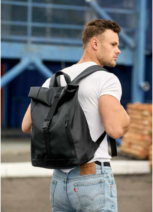 Чоловічий рюкзак ролл Sambag RollTop LZT чорний