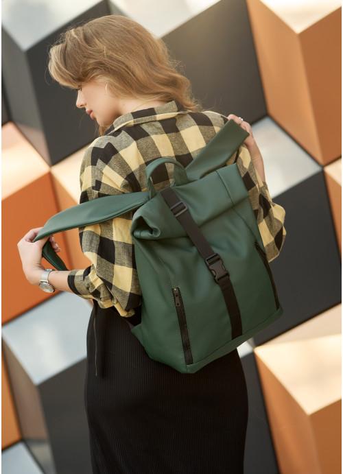 Рюкзак ролл Sambag унісекс RollTop LZT зелений