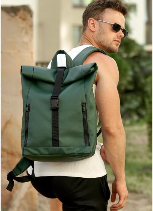 Чоловічий рюкзак ролл Sambag  RollTop LZT зелений