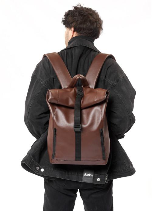 Чоловічий рюкзак ролл Sambag  RollTop LZTm шоколадний