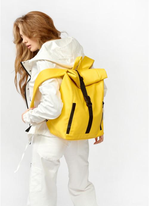 Рюкзак ролл Sambag унісекс RollTop LZT жовтий