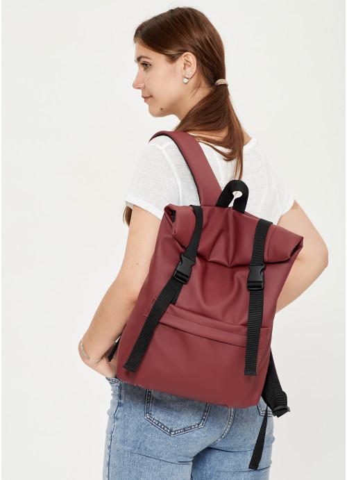 Жіночий рюкзак ролл Sambag RollTop LSH бордо