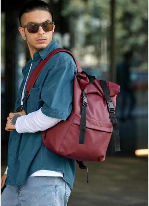 Чоловічий рюкзак ролл Sambag  RollTop LSH бордо