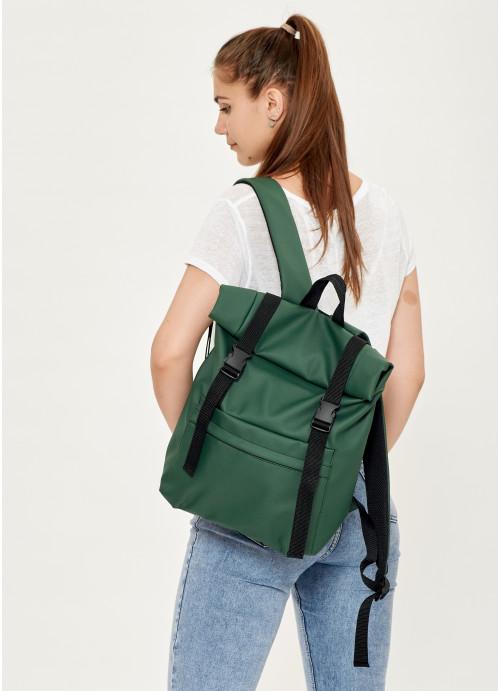 Жіночий рюкзак ролл Sambag RollTop LSH зелений