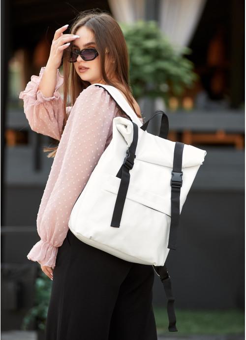 Рюкзак ролл Sambag унісекс RollTop LSH білий
