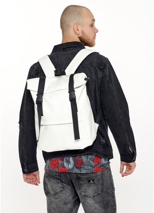 Чоловічий рюкзак ролл Sambag  RollTop LSHm білий
