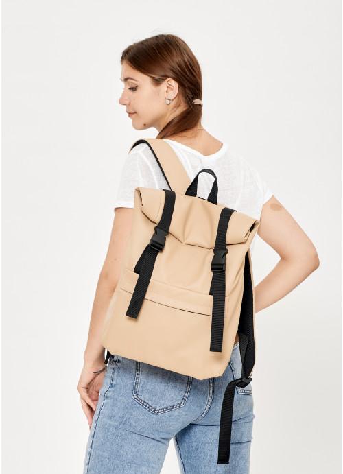 Жіночий рюкзак ролл Sambag RollTop LSH бежевий