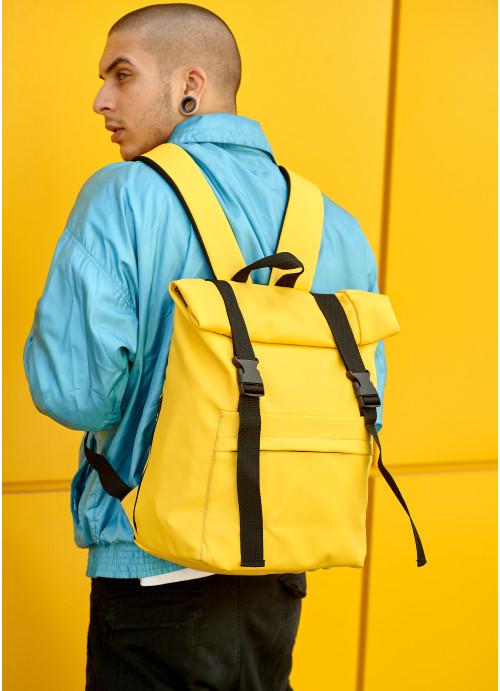 Чоловічий рюкзак ролл Sambag  RollTop LSH жовтий