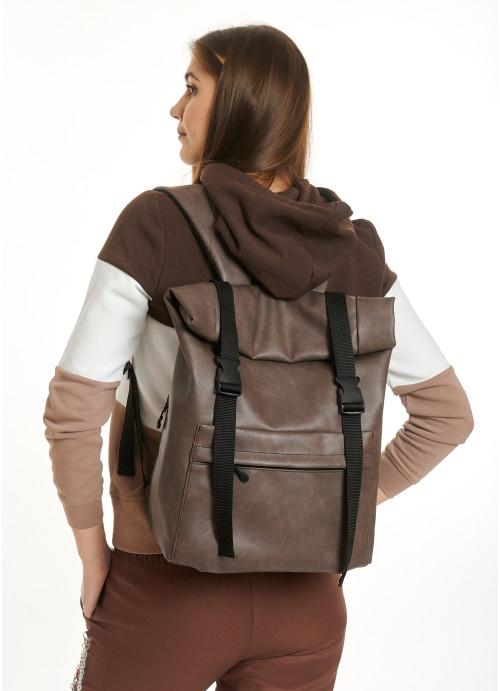 Рюкзак ролл Sambag унісекс RollTop LSH світло-коричневий нубук