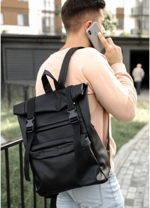 Чоловічий рюкзак ролл Sambag  RollTop LTHm чорний