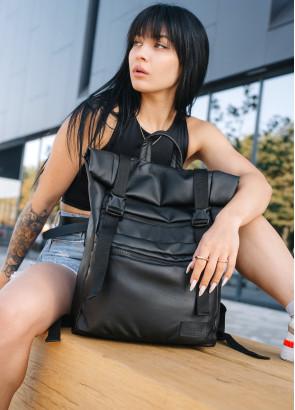Жіночий рюкзак ролл Sambag RollTop LTT чорний