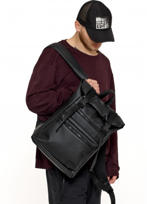 Чоловічий рюкзак ролл Sambag  RollTop LTTm чорний