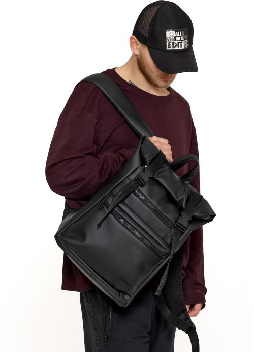 Рюкзак ролл Sambag унісекс RollTop LTTm чорний