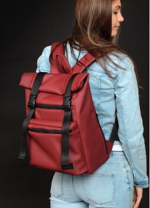 Жіночий рюкзак ролл Sambag RollTop LTT бордо