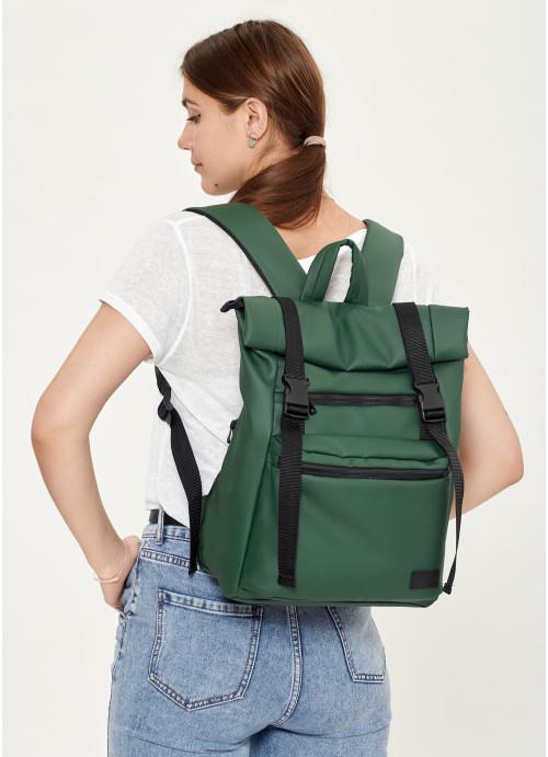 Жіночий рюкзак ролл Sambag RollTop LTT зелений
