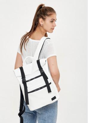 Жіночий рюкзак ролл Sambag RollTop LTT білий