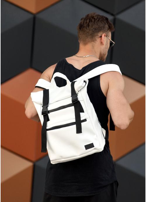 Чоловічий рюкзак ролл Sambag  RollTop LTT білий