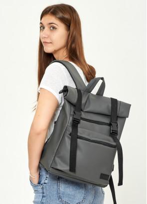 Жіночий рюкзак ролл Sambag  RollTop LTT графітовий